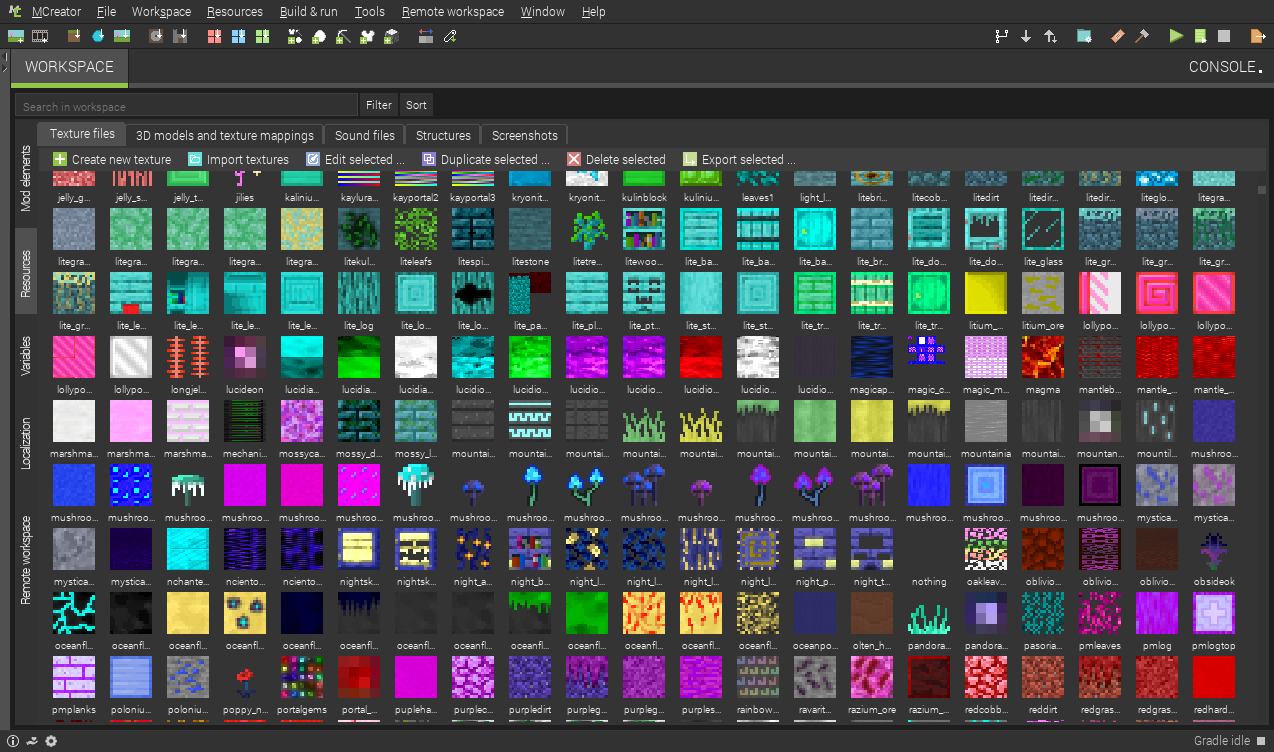 MCreator offers plenty of mod making tools