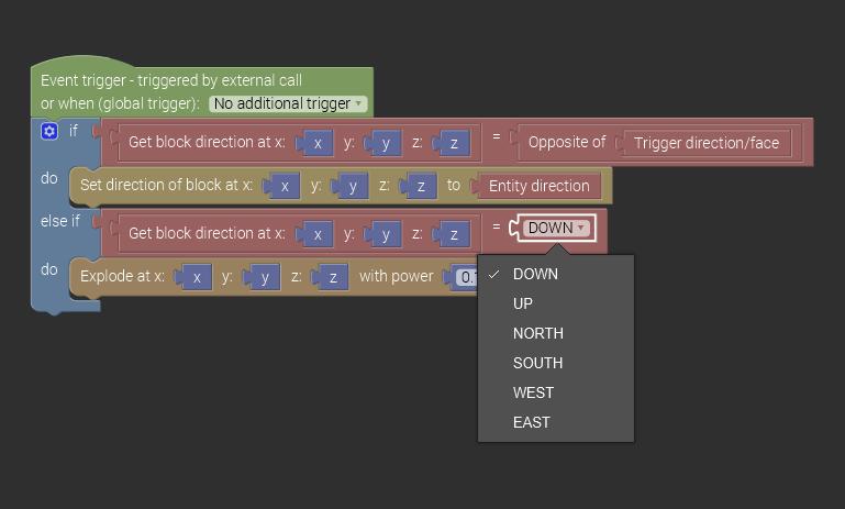 New directions data type in procedures