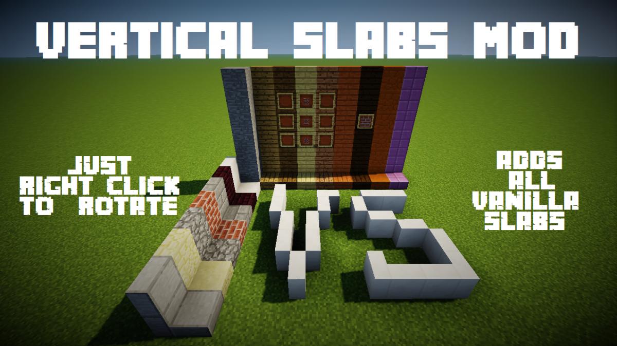 Vertical Slabs Mod Mcreator