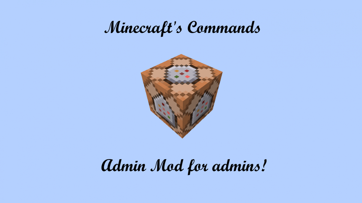 Admin+ Mod (More Commands) | MCreator