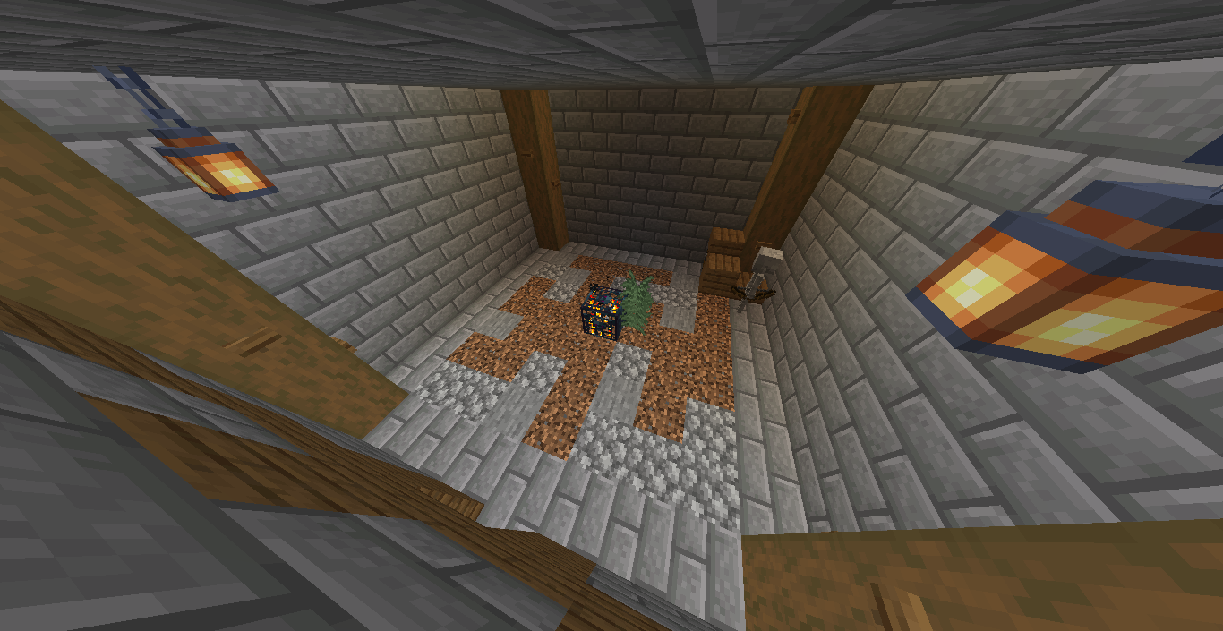 The Inside of the dungeon. (It's in the taiga biome.)