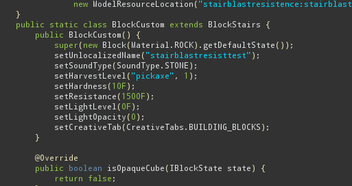 Code for stairs