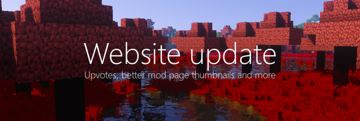 Website update - Upvotes, mod page thumbnails and more