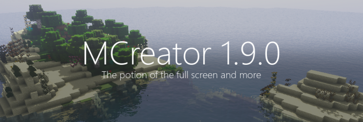 MCreator 1.9.0 - The potion of the full screen and more