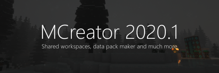 MCreator 2020.1 - Online workspace, data packs and more