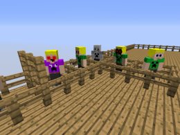 The mobs in the mod. From left to right, they are: Dermernt, Dermernt.mpeg, Dement.exe, suicidemouse.avi Dement, Squidward's Suicide Dement, and BEN DROWNED Dement. All except Dermernt and exe are non-canon and reside in Non-Canonia. More details in the description.