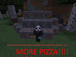 This mod adds pizza & silicon (which i made to help me in galacticraft)