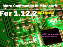 More commands in minecraft! Over 30+ commands!