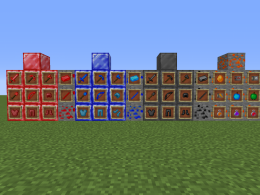 All new blocks and items on the mod.