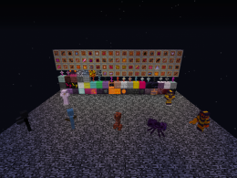 Almost every block and item, and a few mobs.