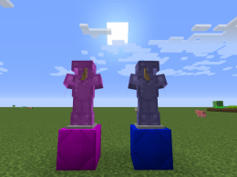 The armors of the pre-alpha demo: Amethyst, Sappire