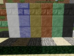 Wall with all the construction blocks of Rocks 1.0