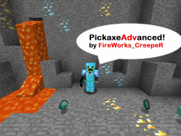 Get pickaxe advanced!