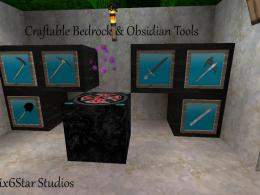 Craftable Bedrock With Obsidian Tools