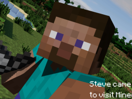 Steve came back to visit Minecraft.