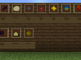 All the new items: Lard, pigs eye, sulfer, saltpeter, burning sulfer, ender flower, ender pellet, lava droplet etc.
