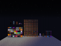 Almost all the blocks and items, and a few mobs.