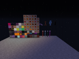 All blocks, a few items, and a few mobs.