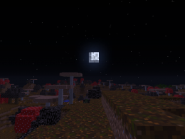 The Wasteland Biome during the night.