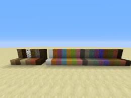 All the new wood types compared to the vanilla wood types