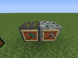 The two new ores and the respective pickaxes that can break them.
