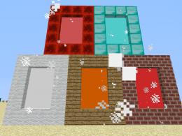 redstone, diamond, wool, wood and bricks.