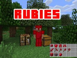 Just a guy in ruby armor with the word rubies written over him. I don't own the image.