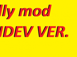 "Its a yellow painted background with the words, ""silly mod INDEV VER."""
