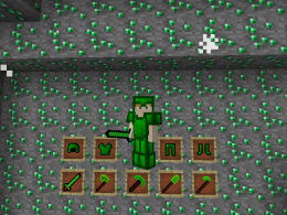 In this mod you can use emerald weapons and emerald armor and are more OP of the diamond