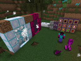 The mod adds several crystals, mobs, dimensions...