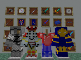 Some ZetaCraft items, weapons and armors
