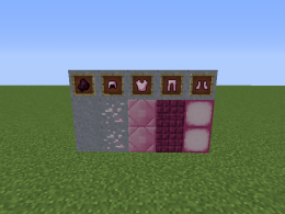 Screenshot of the blocks and items in this mod