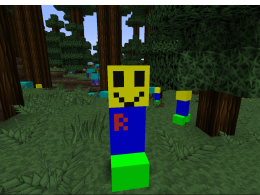 A reskinned friendly creeper called roblox noob