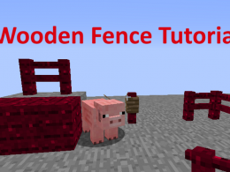 Generic red wooden fences