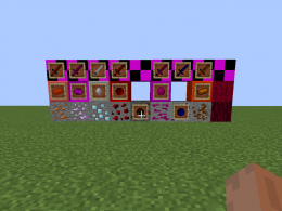 Here are the ores, Red wood is on the right