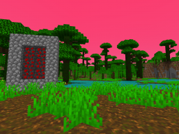 this is the portal and the biome that this mod adds!