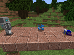 A picture of 3 of the mobs in this mod (but they didn't want to face the camera.)