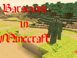 Barsoom with a Green Thark with ruins in the background
