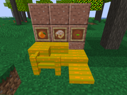 The new Items, including oranges, saplings, and orange wood!