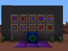 A picture of many items that are in the mod.