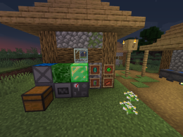 Image of a few blocks added and machines