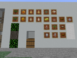 All items and blocks added into the game