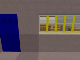 An imitation room I made based on the first notebook room in Baldi's Basics Classic.