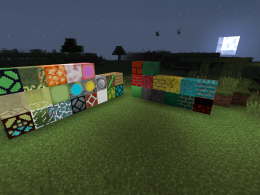 Some light source blocks and normal blocks