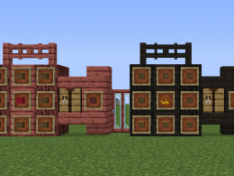 Coralwood (left) and Charwood (right) with recipes and all blocks included