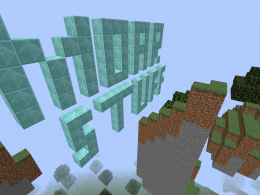 High up in the sky crystal blocks spelling MOARSTUFF
