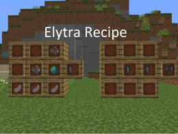 The Elytra Wing recipe and the Elytra recipe!