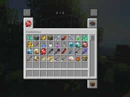 All the weapons, food and materials this mod adds