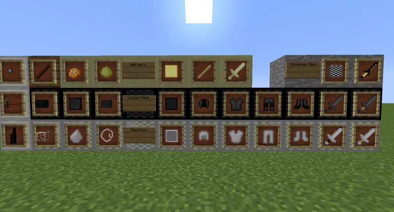 Technologic Materials mod items.