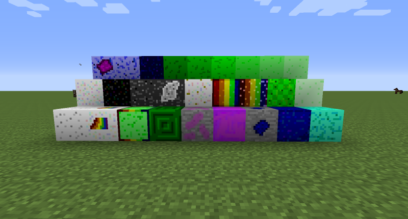 All of the blocks in the mod.
